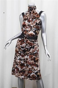 Chanel short dress Brown 05p Womens Silk on Tradesy