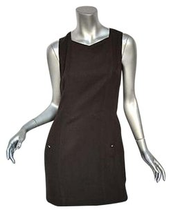 Chanel short dress Browns Vintage Sleeveless Short Shift Seaming Workplay Sm on Tradesy