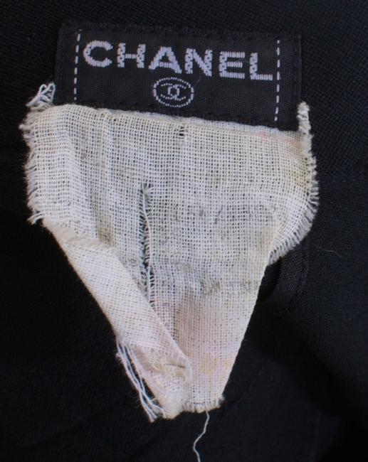 Chanel Silk Linen Monogram Shorts Black