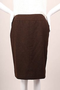 Chanel Dark Cashmere Skirt Brown