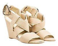 Chanel Canvas Strappy Beige Sandals