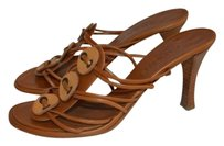 Chanel Leather Strappy Brown Sandals
