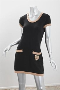 Chanel short dress Multi-Color Womens Black Tan on Tradesy
