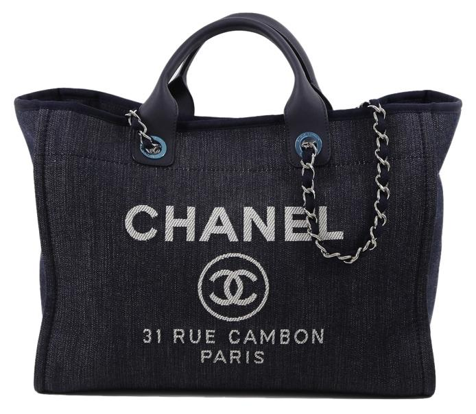 high-quality Chanel Navy, Dark Blue Tote Bag - www ...