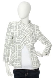 Chanel Tweed White Painted Jacket