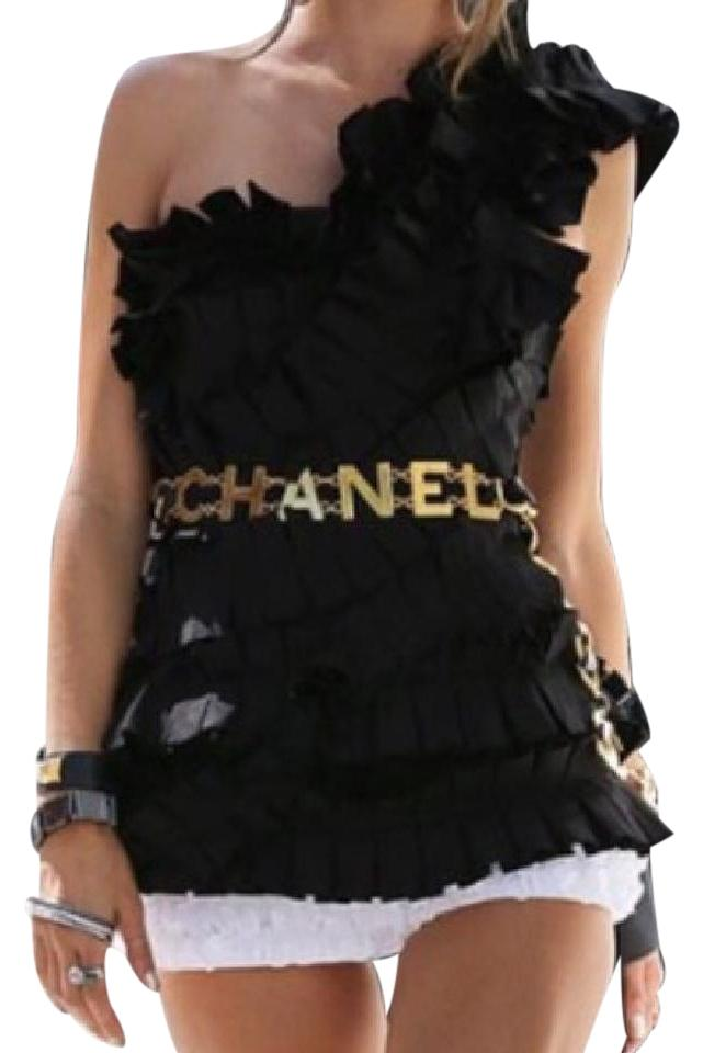 chanel belt. chanel vintage coco red leather belt or necklace d