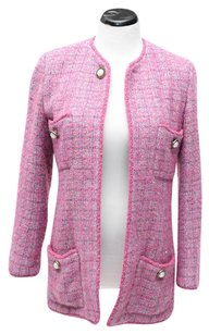 Chanel Vintage Tweed Pink Jacket