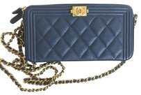 Chanel Woc Zip Woc Wallet Wallet Chain Cross Body Bag