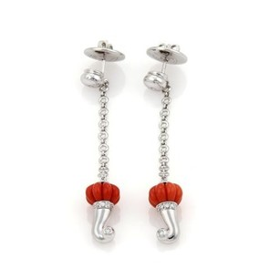 Chantecler Chantecler Diamonds Coral Fancy 18k Gold Dangle Earrings
