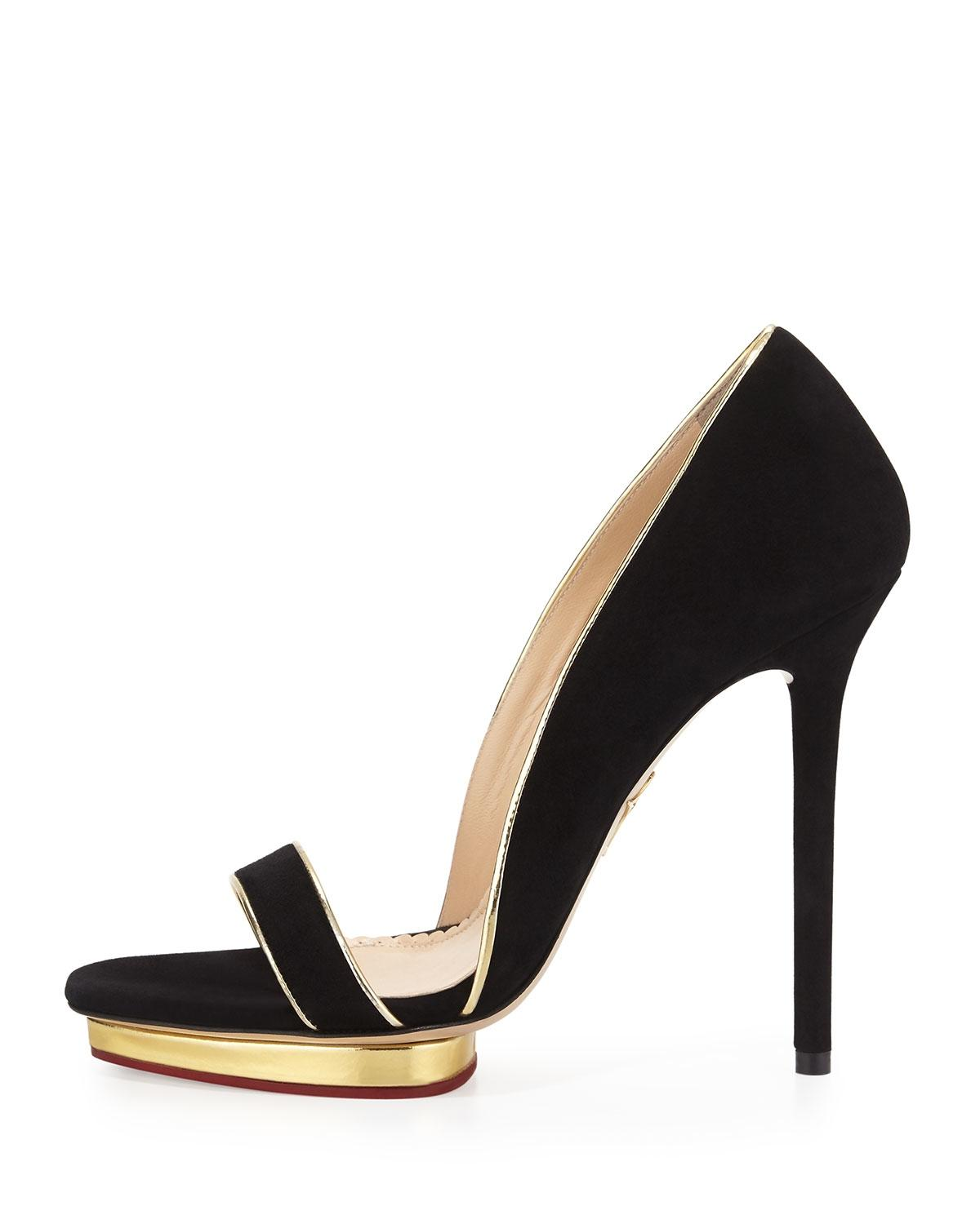 Charlotte Olympia Christine 125 Leather Sandals clearance original jx01GHZWQ