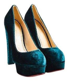 Charlotte Olympia Dark Green Pumps