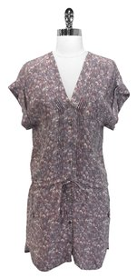 Charlotte Ronson short dress Pink, Grey, Taupe Shirt Abstract Drop Waist Floral on Tradesy