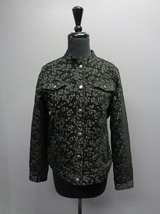 Charter Club Textured W Buttons Rayon Blend Sma6035 Black And Silver Jacket