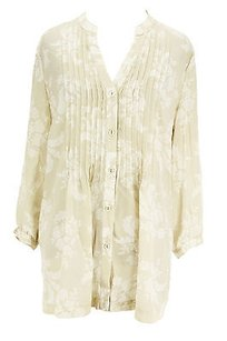 Charter Club Floral Womens Top beige