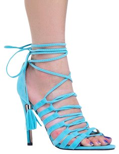 Chase & Chloe Blue Sandals