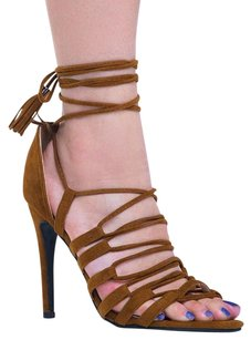 Chase & Chloe Brown Sandals