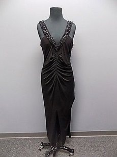 Black Maxi Dress by Chetta B. by Sherrie Bloom and Peter Noviello B Polyester Lined Beaded Full Length Formal Gown 857a