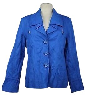 Chico's Chicos Womens Solid Blue Jacket