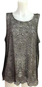 Chico's Chicos Cocoa Bean Lace Top Brown