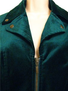 Chico's Chicos Plus Solid Teal Green Jacket