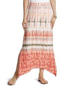 Chico's Chicos Watercolor Tribal Skirt Warm Multi