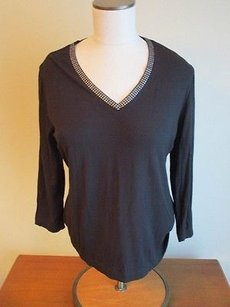 Chico's Chicos V Neck Top Black