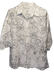 Chico's Top white with print