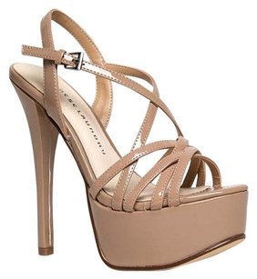 Chinese Laundry Cutouts High-heel Holiday100 Teaserpatentnude-11 Beige Sandals