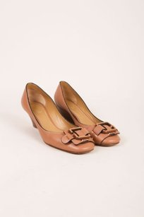 Chloé Chloe Leather Buckle Tan Platforms