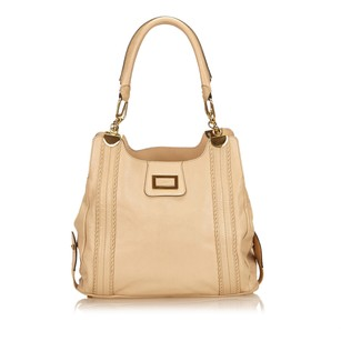 Chloé Beige Brown Leather 6gclsh010 Shoulder Bag
