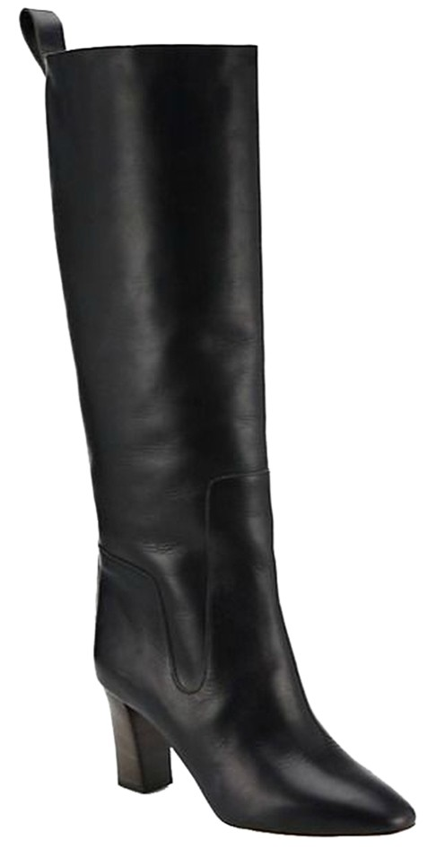 Chloé Black Leather Knee-high Boots/Booties Size EU 37.5 (Approx. US 7.5) Regular (M, B)