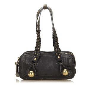Chloé Black Leather Shoulder Bag