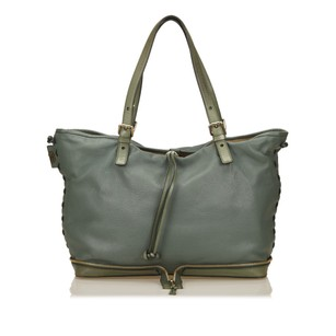Chloé Blue Leather 6eclto003 Tote