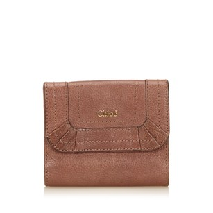 Chloé Brown Leather Others Slg 6gclsw006