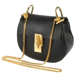 Chloé Chloe Drew Small Gold Shoulder Bag