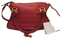 Chloé Crossbody Marcie Medium Red Satchel