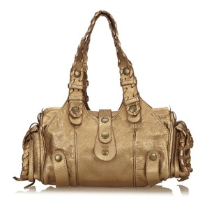 Chloé Gold Leather 14azeg320 Shoulder Bag