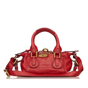 Chloé Leather Red Shoulder Bag