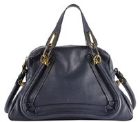 Chlo paraty medium navy blue Satchel in navy blue