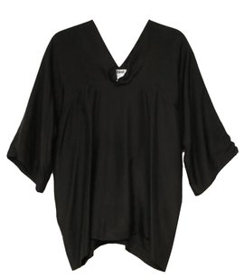 Chloé Chloe Womens Silk Cowl Neck Draped Shirt 448 Top Black