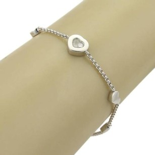 Chopard Chopard Happy Diamonds 18k White Gold Hearts Charm Chain Bracelet