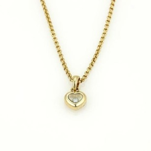 Chopard Chopard Happy Diamonds 18k Yellow Gold Heart Pendant Chain Necklace