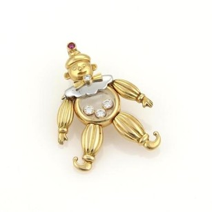 Chopard Chopard Happy Diamonds Ruby 18k Two Tone Gold Clown Pendantpin