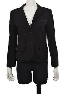 Chris Benz Chris Benz Womens Black Blazer Long Sleeve Solid Career Jacket Wtw