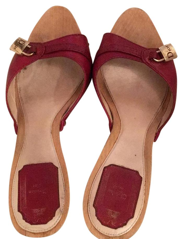 Christian Dior Wooden Mules
