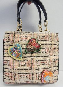 Christian Lacroix Multi Tweed Tote in Multi-Color