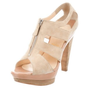 Christian Louboutin Ankle Boots Suede Tan Sandals