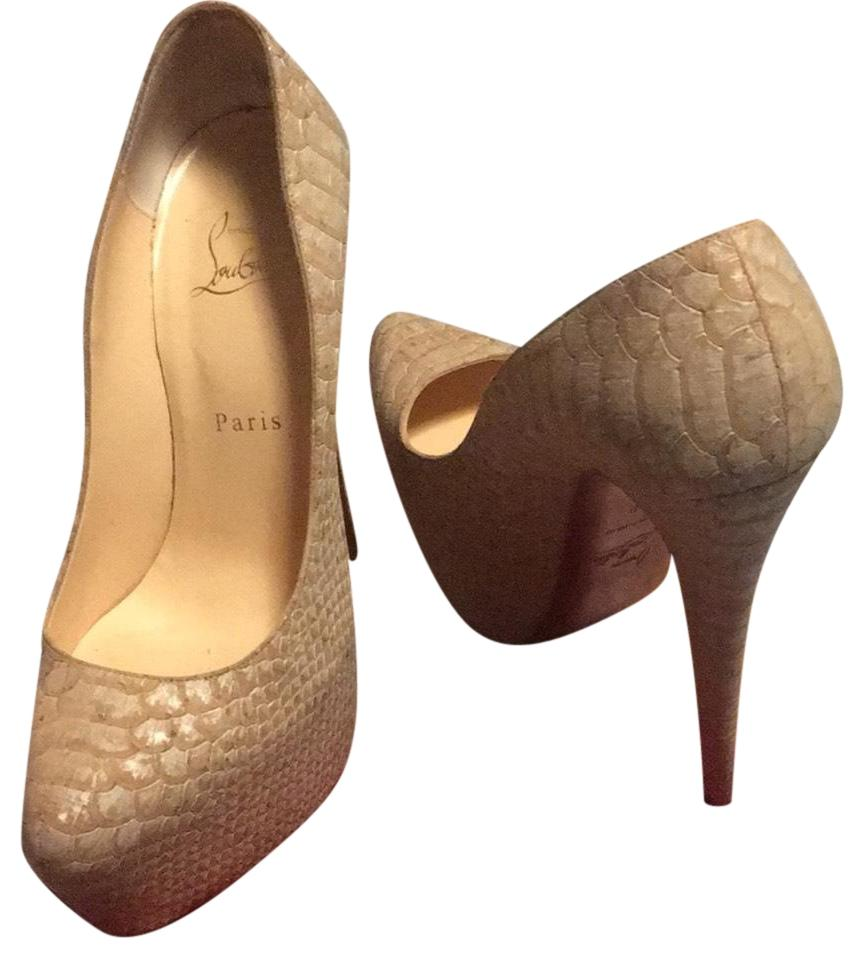 christian louboutin daffodile 160mm pumps beige