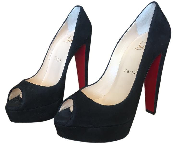 new concept 60f82 5a423 Christian Louboutin Black Altanana 140mm Suede Leather ...