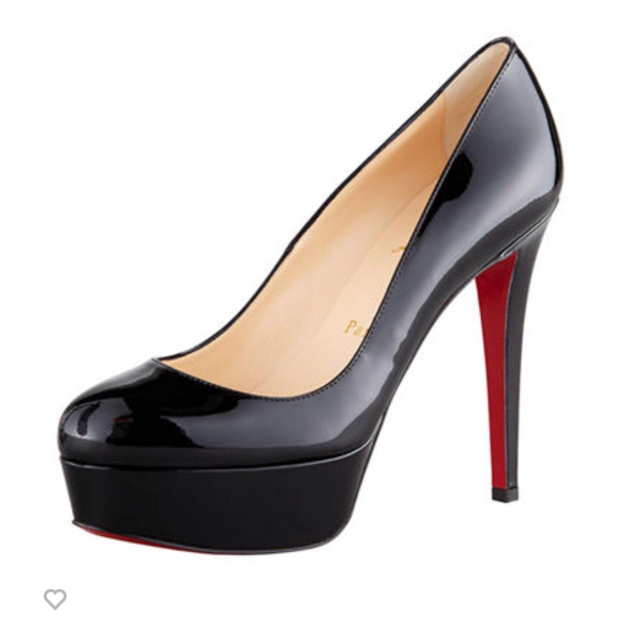 25d07918b6cb Christian Christian Christian Louboutin Black Bianca Patent Leather Red  Sole Pump Platforms Size EU 37 (
